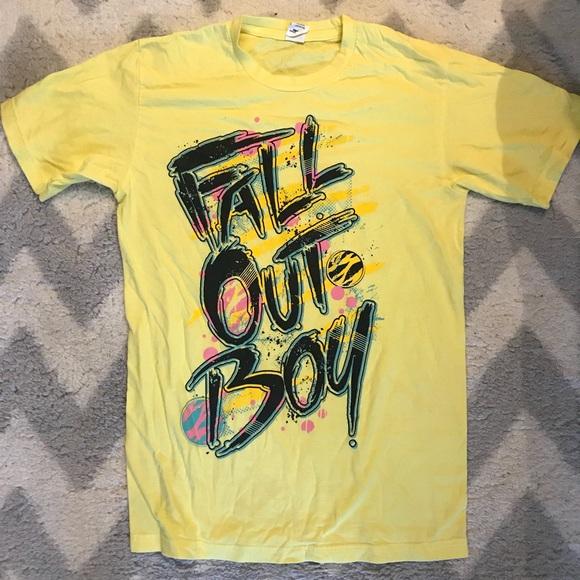 3ca0823a811b6 Yellow Fall Out Boy T shirt